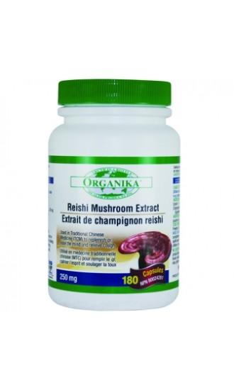 Reishi Mushroom Extract 250mg, 180 Vegetable Capsules