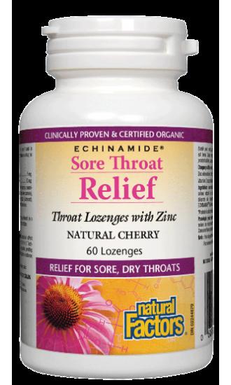 ECHINAMIDE® Sore Throat Relief, 60 throat/zinc lozenges