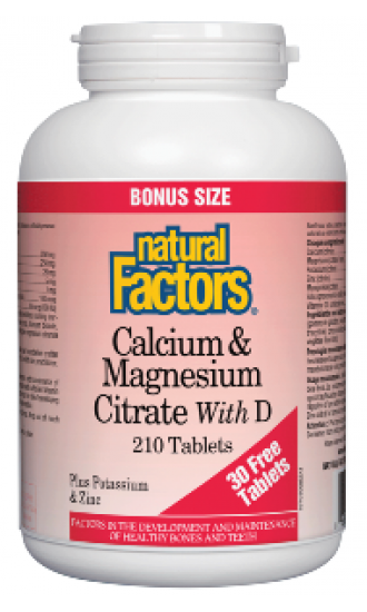 Calcium & Magnesium Citrate with D - 210 Tablets