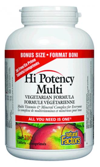 Natural Factors Hi Potency Multi, 180 Capsules