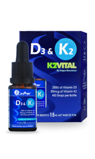 Canprev Vitamin D3 & K2, 15 ml