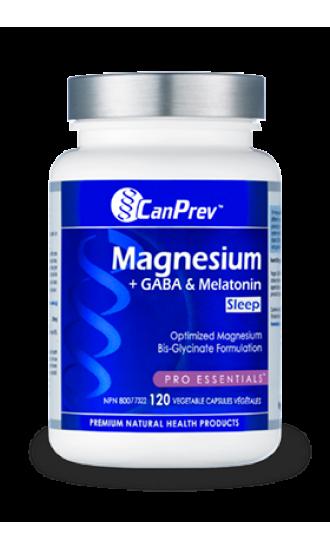 Canprev Magnesium + Gaba & Melatonin Sleep, 120 Vegetable Capsules