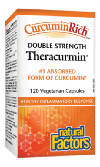 Natural Factors Theracurmin Double Strength, 120 Capsules