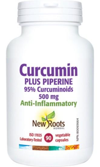 New Roots Curcumin Plus Piperine, 90 Vegetable Capsules