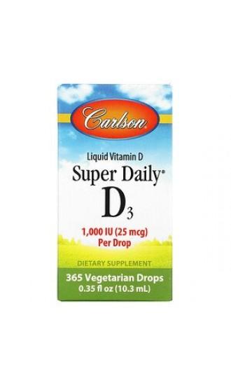 Carlson Super Daily D3 1000 IU, 365 drops