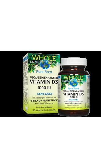 Whole Earth & Sea Vegan Vitamin D3, 90 Vegetarian Capsules