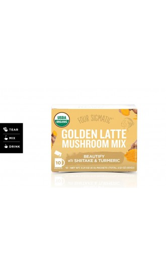 Four Sigmatic Golden Latte Mushroom Mix, 10 Packets